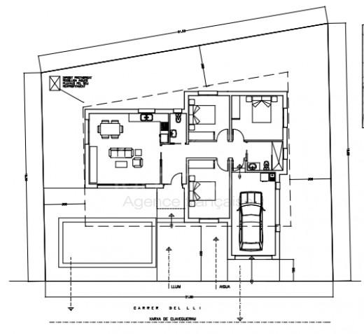 Exemple projet, Neuve, 3 chambres, piscine, garage