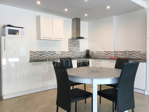 2 chambres, parking privé, terrasse 22m2, plage Canyelles 800m