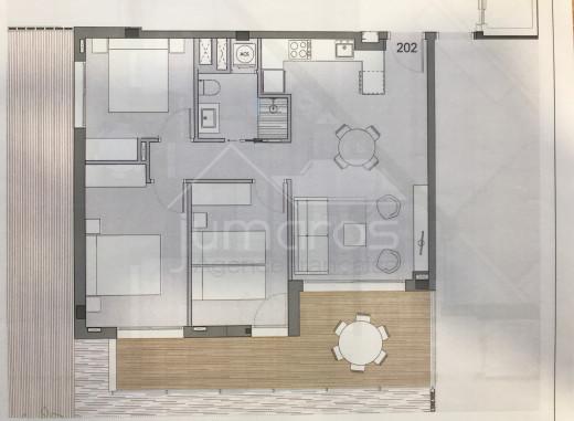 PROMOTION NEUVE : 3 chambres, 2ème étage à 200m de la plage