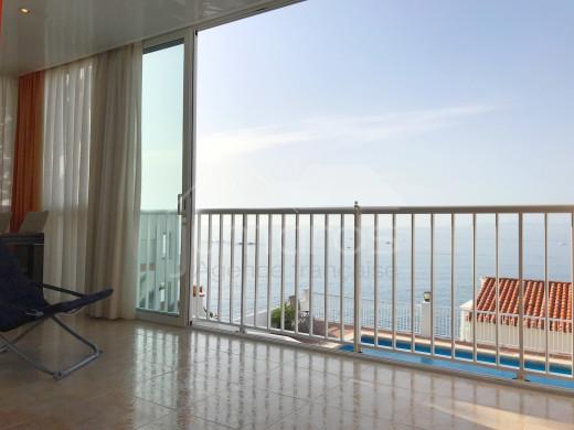 Appartement entièrement rénové, vue mer, parking privé et piscine