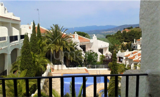 Semi-detached house in Puig Rom with mountain views
